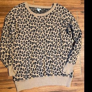 Old Navy cheetah print sweater pullover